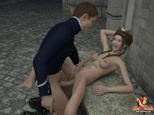 3d futanari princess gets fucked
