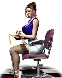 busty futa secretary